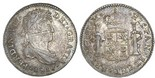 Guatemala, bust 1 real, Ferdinand VII, 1818M. KM-66. Problem-free AXF with nice toning, two adjustment marks across bust.