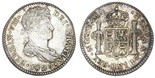 Guatemala, bust 1 real, Ferdinand VII, 1820M. KM-66. Problem-free AXF with nice toning.