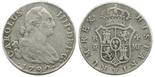 Madrid, Spain, bust 4 reales, Charles IV, 1792MF.