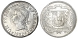Dominican Republic, 1 peso, 1952, encapsulated NGC MS 65+.