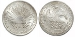 Guanajuato, Mexico, cap-and-rays 8 reales, 1861PF.