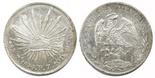 Zacatecas, Mexico, cap-and-rays 8 reales, 1894FZ.