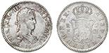 Cadiz, Spain, bust 2 reales, Ferdinand VII, 1811CI.