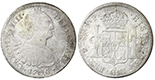 Potosi, Bolivia, bust 8 reales, Charles IV, 1796PP.