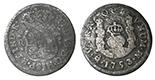 Mexico City, Mexico, pillar 1 real, Ferdinand VI, 1753M.