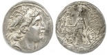Kings of Cappadocia, AR tetradrachm, Ariarathos VII Philometer, ca. 106-101/0 BC, struck in the name and types of Antiochos VII of Syria, Ariaratheia or Eusebia-Tyana mint, struck ca. 104-2 BC.