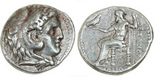 Seleukid Kings of Syria, AR tetradrachm, Seleukos I Nikator, 312-281 BC, struck in the name and types of Alexander III (the Great) of Macedon, Babylon I mint, struck ca. 311-300 BC.