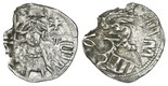 """Wallachia (Romania), silver ducat, Mircea the Old (1386-1418), """"Dracula coin,"""" type with Mircea standing with spear."""