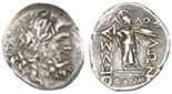 Thessalonian League, AR double victonatus, 196-146 BC.
