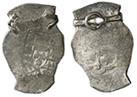 Mexico City, Mexico, cob 8 reales, Philip V, assayer not visible, from the 1715 Fleet, mounted in simple silver pendant.