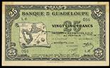 Basse-Terre, Guadeloupe, Banque de la Guadeloupe, 25 francs, ND (1942), serial L6/056.