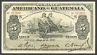 Guatemala, El Banco Americano de Guatemala, 5 pesos, 22 May 1919, series B, serial 227660, P-S112b.