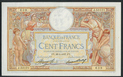 France, Banque de France, 100 francs, dated 28 Janurary 1937, series J. 53121, serial 1328008639, P-78c.