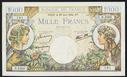France, Banque de France, 1000 francs, dated 29 June 1944, series D. 2563, serial 0645053101, P-96b.
