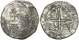 Potosi, Bolivia, cob 8 reales, Philip III, assayer Q, Grade 2, with Treasure Salvors Inc. certificate and tag.