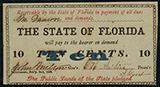 Tallahassee, Florida, 10 cents, Feb. 2, 1863, PMG UNC 62 EPQ.
