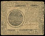 United Colonies, $7, 10-5-1775, serial 15966.