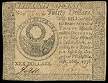 United States, $30, 26-9-1778, serial 53368.