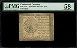 United States, $40, 26-9-1778, serial 78462, PMG AU 58.