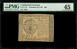 United States, $40, 26-9-1778, serial 219523, PMG XF 45.