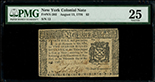 New York City, New York, $2, 13-8-1776, serial 12, PMG VF 25.
