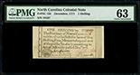 North Carolina, 1 shilling, December 1771, serial 19107, PMG Choice UNC 63.
