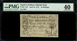 South Carolina, 10 shillings, 10-4-1778, serial 8297, PMG XF 40.