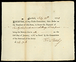 Hartford, Connecticut, Pay-Table Committee, 26 pounds 7 shillings and 6 pence, payable to Thomas Stanley, 12-7-1783.