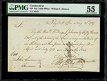 Hartford, Connecticut, Pay-Table Office, 50 pounds, payable to William Samuel Johnson, 21-5-1787, PMG AU 55.